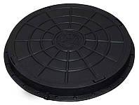 Люк садовый пластмассовый легкий (черный)