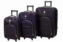 Набор чемоданов на колесах Bonro Lux Темно-фиолетовый 3 штуки