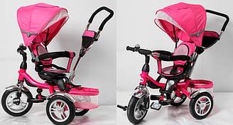 Велосипед 3-ох колісний TR16001 складний козирок, поворот сидіння, надувні колеса 12'' і 10''