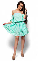 (S-M) Жіноче літнє ментолове плаття Sharlin