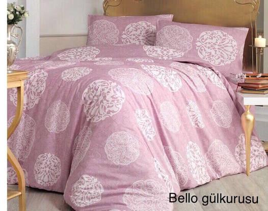 Двуспальное евро постельное белье Altinbasak Bello Lilac Ранфорс