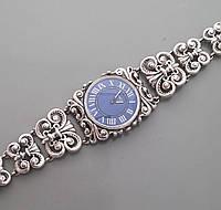 Стильные серебряные женские часы БР-00045