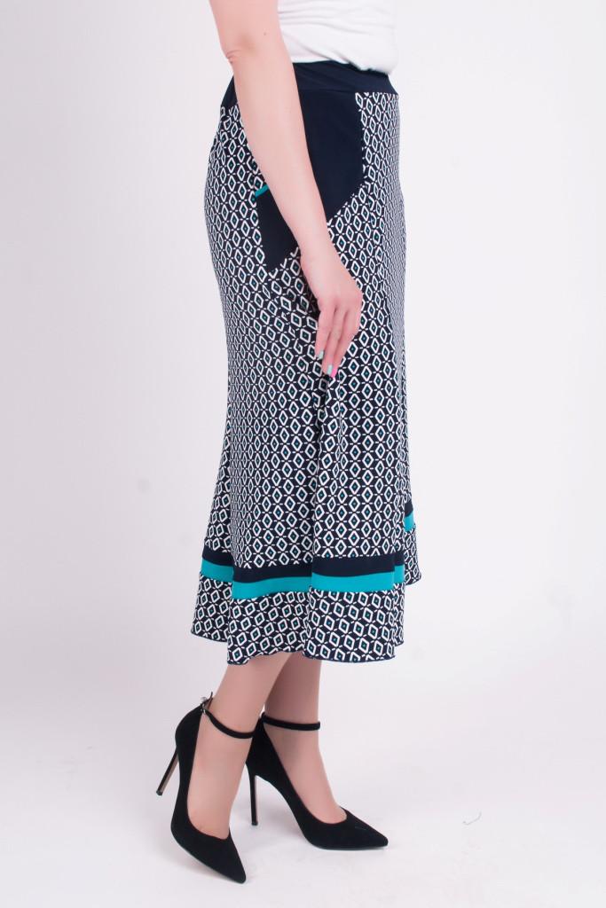 Женская летняя юбка Розанна с синим горошком