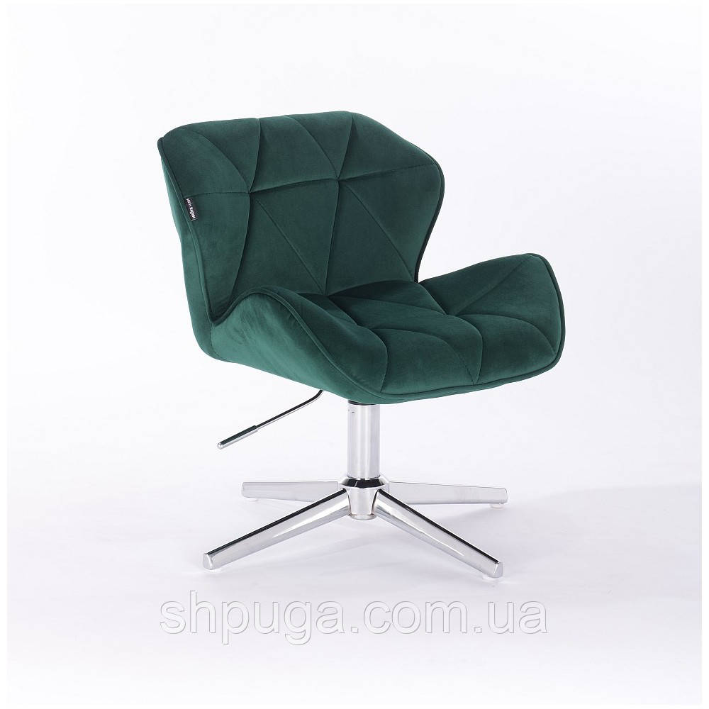 Кресло Hrove Form HR 111  бутылочный зеленый велюр