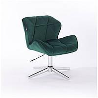 Кресло  HR 111  бутылочный зеленый велюр, фото 1