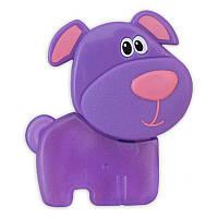 """BABY MIX Прорезыватель для зубов гелевый """"Пёсик"""" фиолет."""