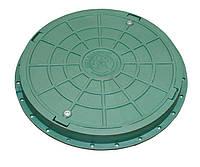 Люк садовый пластмассовый легкий (зеленый) с замком
