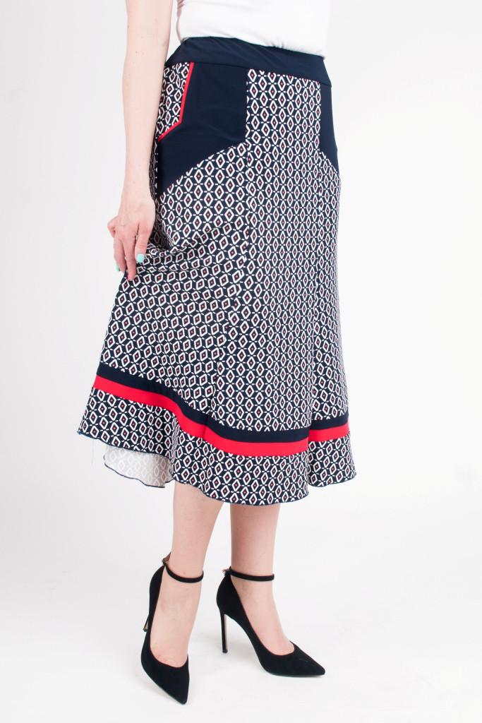 Женская летняя юбка Розанна с красным горошком