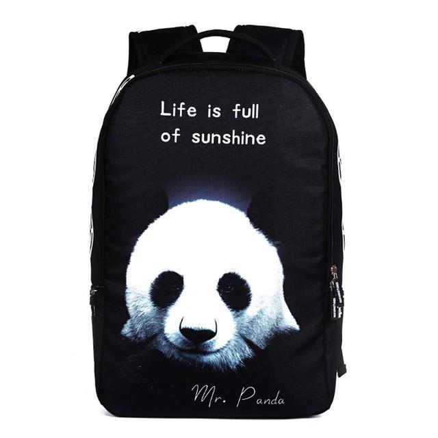 Школьный рюкзак с принтом Панды