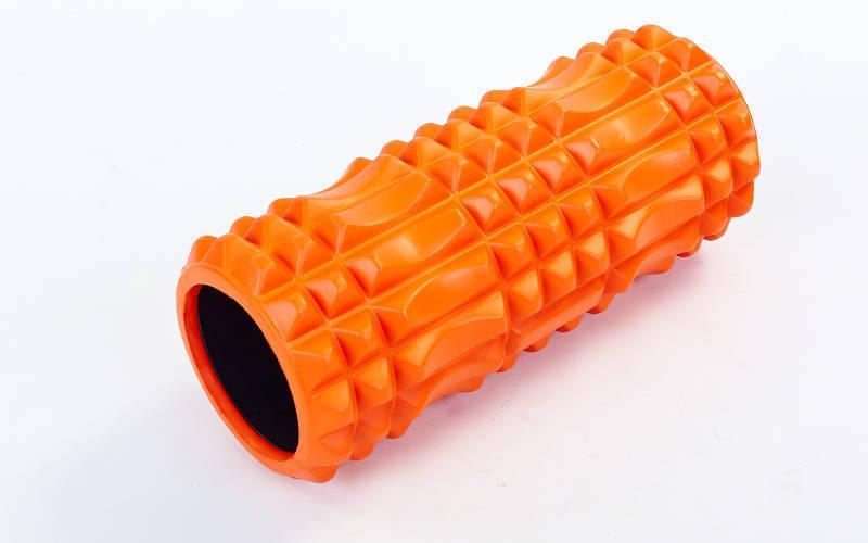 Роллер для занятий йогой массажный EVA оранжевый