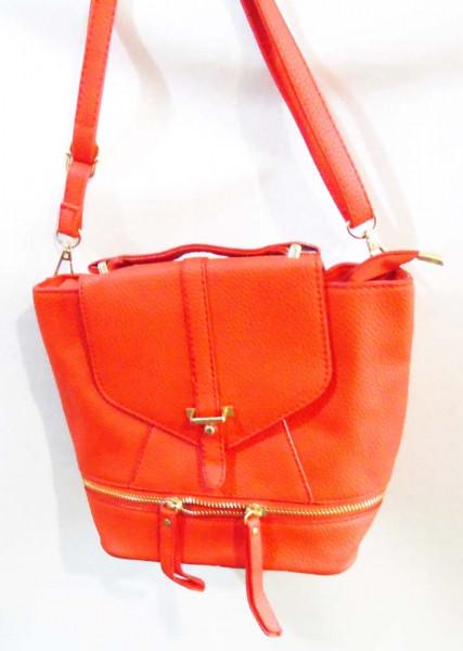 Червоний молодіжний жіночий рюкзак 20 х 18 см