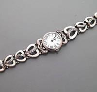 Серебряные наручные женские часы БР-10048