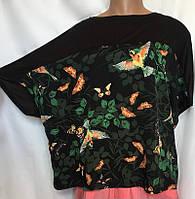 Женская блуза туника LabelBe из шелка и вискозного трикотажа, очень большой размер 58/60