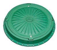 Люк пластиковый легкий №4 с замком (зеленый, серый, коричневый)