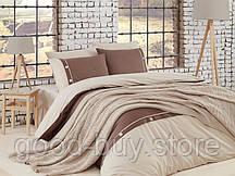 Постельное белье с вязаным покрывалом First choice Nirvana Raina Ekru