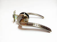 Ручка дверная межкомнатная с защелкой на кругу Мила бронза