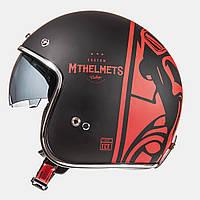 MT LE MANS SV Divenire Matt Black Red, XS, Мотошлем лицевик, фото 1