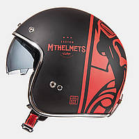 MT LE-MANS SV Divenire Matt Black Red, XS, Мотошлем лицевик