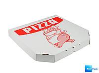 Коробка для пиццы 410х410х40мм белая c печатью Pizza, 1шт