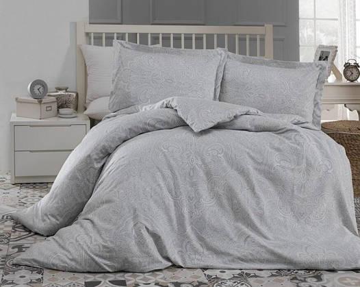 Двуспальное евро постельное белье Altinbasak Easter Gry Сатин