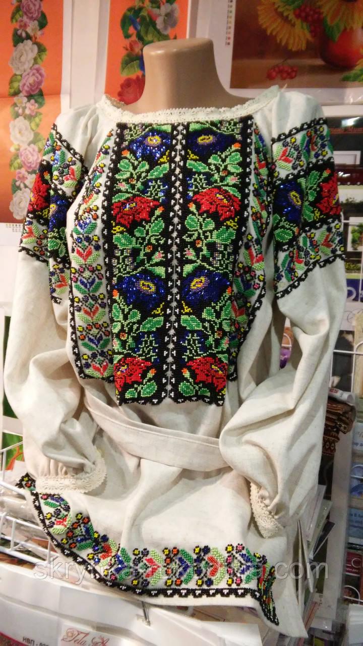 Заготовка жіночї сорочки БС-54 для вишивки нитками/бісером/рубкою