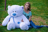 Белый плюшевый мишка Тедди  140 см