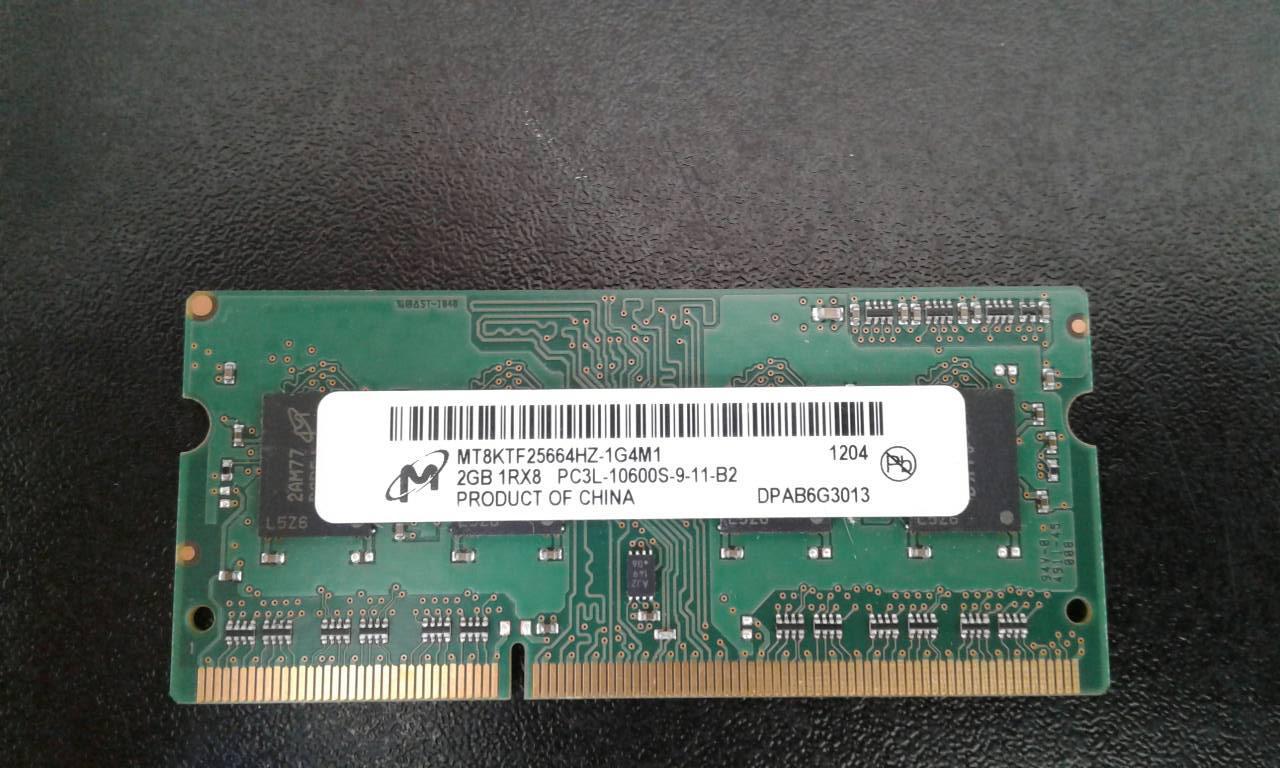 Оперативная память для ноутбука 2GB DDR3