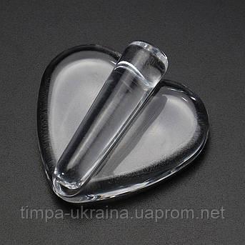Сердечко стеклянное для фольги (пресс), фото 2