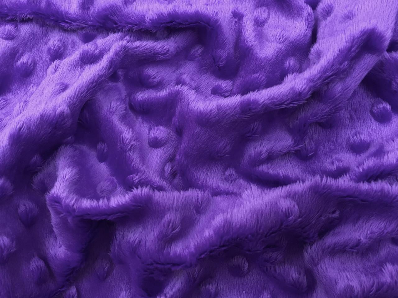 Плюш Minky фиолетовый 280г/м2