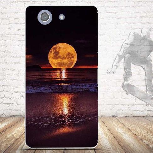 Силиконовый бампер для Sony Z3 compact D5803 Чехол с рисунком Луна