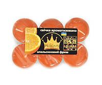 Ароматизированные чайные свечи 6 шт. в гибкой упаковке Промис-Плюс Апельсин