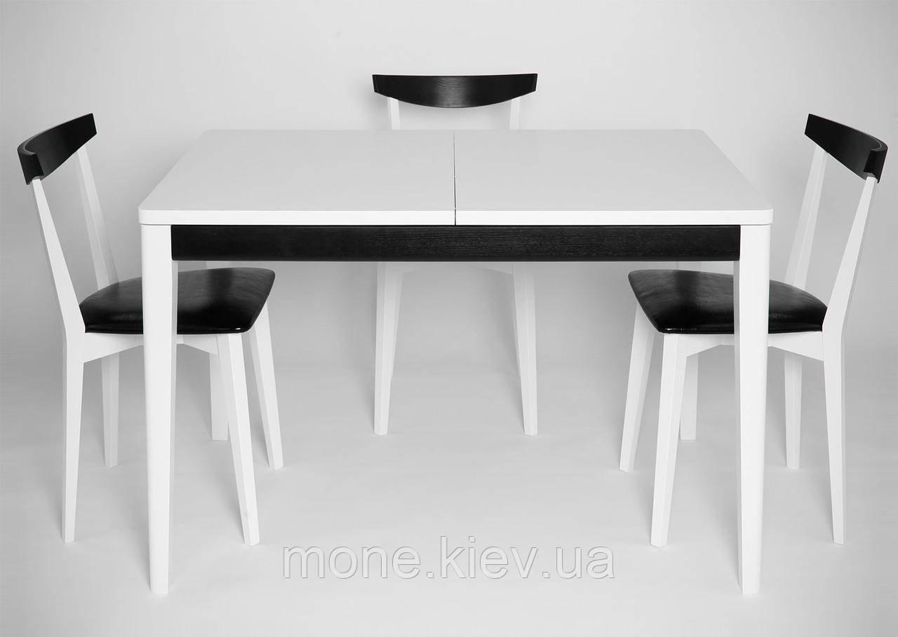 """Стол  и 3 стула """"Кристоф"""" White-Black"""