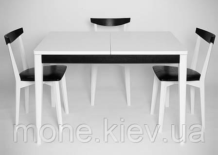 """Стол  и 3 стула """"Кристоф"""" White-Black, фото 2"""