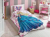 Детское подростковое постельное белье TAC Disney Barbie Dream Ранфорс (простынь без резинки)