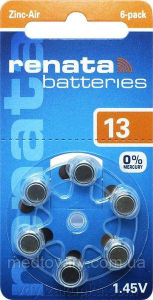Батарейка к слуховому аппарату Renata  тип 13