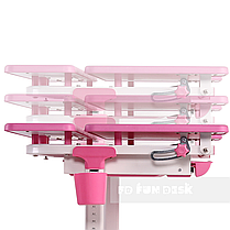 Растущая парта для девочки FunDesk Lavoro L Pink, фото 3