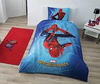 Детское подростковое постельное белье TAC Disney Spiderman Homecoming Ранфорс (простынь без резинки)
