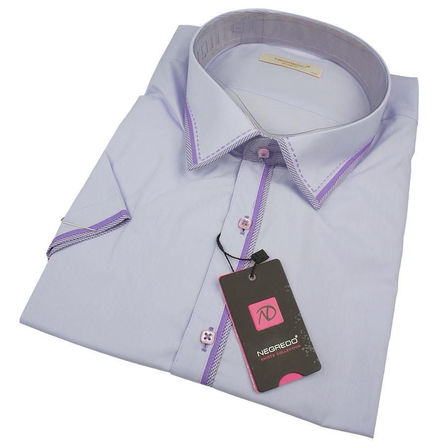 Мужская рубашка Negredo 0370 В Slim С размер 3XL большого размера