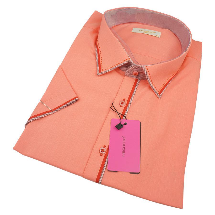 Літня чоловіча сорочка Negredo 0370 В Slim С розмір 4XL великого розміру