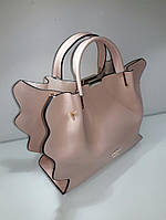 Женская брендовая сумка Guess Гесс цвет пудра