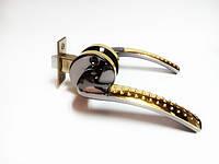 Ручка дверная межкомнатная с защелкой на кругу Мила черное золото