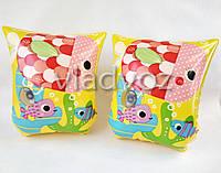 Детские надувные нарукавники для плавания intex 58652 с рыбками от 2-6 лет