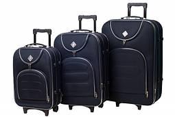 Набор чемоданов на колесах Bonro Lux Темно-синий 3 штуки