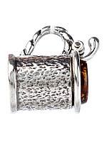 Кулон в серебре с янтарем, фото 1