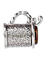 Кулон в серебре с янтарем