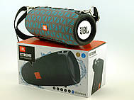 JBL XTREME 13 small Bluetooth колонка 40W с FM MP3 копия, серая с голубым