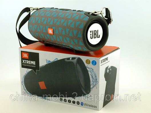 JBL Xtreme 13 small портативна колонка 40W з Bluetooth FM MP3 копія, сіра з блакитним, фото 2