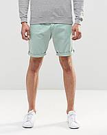 Мужские шорты чинос мятного цвета