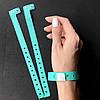 Контрольные виниловые браслеты на руку с логотипом для посетителей (16mm) Mint