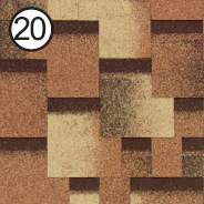 Битумная черепица Roofshield / Руфшилд Модерн №20 (Сандаловый)